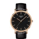 ◆TISSOT◆ EVERYTIME LARGE簡約大三針石英腕錶 T109.610.36.051.00 黑