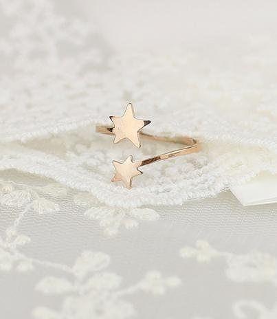loveu愛心鍍玫瑰金戒指女時尚鈦鋼