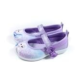冰雪奇緣 Elsa Anna 休閒鞋 娃娃鞋 魔鬼氈 粉紫色 中童 童鞋 FNKP14627 no760