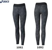 [陽光樂活]ASICS亞瑟士(女)服飾 / 下著 / fuzeX女印花緊身褲XXL864-1092
