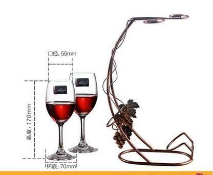 2/6只裝無鉛水晶紅酒杯套裝 醒酒器杯架 波爾多高腳杯子葡萄酒杯