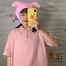 polo衫 純棉T恤女短袖夏裝新款韓版寬鬆翻領網紅上衣服潮 - 風尚3C