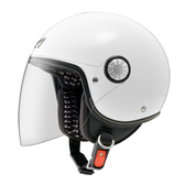 【東門城】ASTONE AJ 素色(白) 半罩式安全帽 小帽體