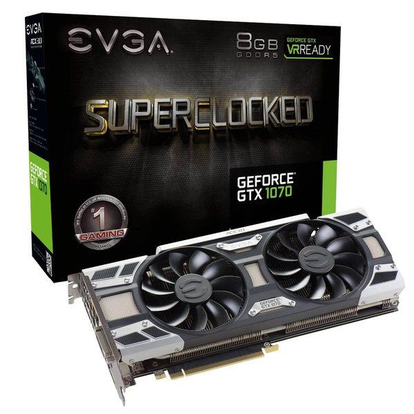 艾維克EVGA GTX1070 8GB SC BP GAMING ACX 3.0 GDDR5 圖形卡