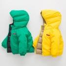 兒童羽絨服男寶寶輕便兩面穿短款女童2019新款冬季連帽加厚外套潮