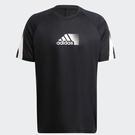 Adidas ADICOLOR 男裝 短袖 慢跑 訓練 吸濕排汗 拼接 灰黑【運動世界】GR9679