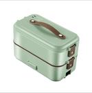 110V電壓 蒸煮電熱飯盒 單雙層三層插電加熱保溫電飯盒 喜迎新春 全館5折起