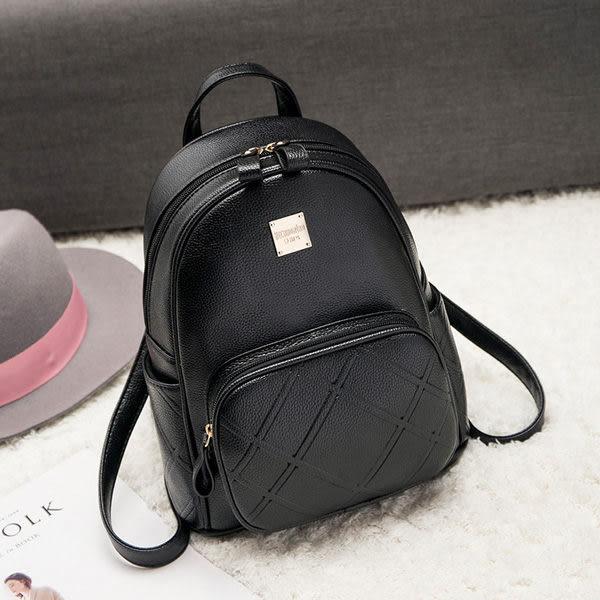 韓版後背包 女旅行雙肩小包 黑色