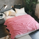 【BELLE VIE】純色華麗法蘭絨毯(150X200cm)亮麗粉