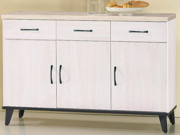 櫥櫃 餐櫃 FB-306-2 鋼刷白4尺仿石面碗櫃下座【大眾家居舘】