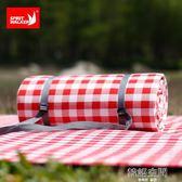 紅白格子戶外野餐墊防潮墊露營地墊加大加厚防水春游草坪野炊布   韓語空間
