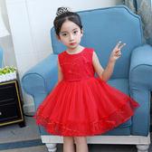 兒童禮服女童禮服公主裙短款主持人鋼琴演出服生日蓬蓬紗大童 qf740【夢幻家居】