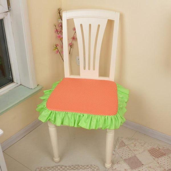 [超豐國際]田園布藝棉含芯方形坐墊 椅墊可拆洗餐椅墊
