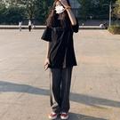 高腰顯瘦牛仔褲女直筒寬鬆垂感闊腿拖地褲【...