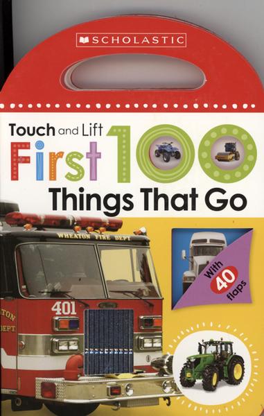 【幼兒觸摸翻翻書】TOUCH AND LIFT FIRST 100 THINGS THAT GO /硬頁翻翻書 《主題:交通工具》