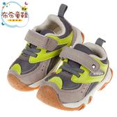 《布布童鞋》BABYVIEW特選透氣灰綠色寶寶機能學步鞋(14~19公分) [ O9T148J ]