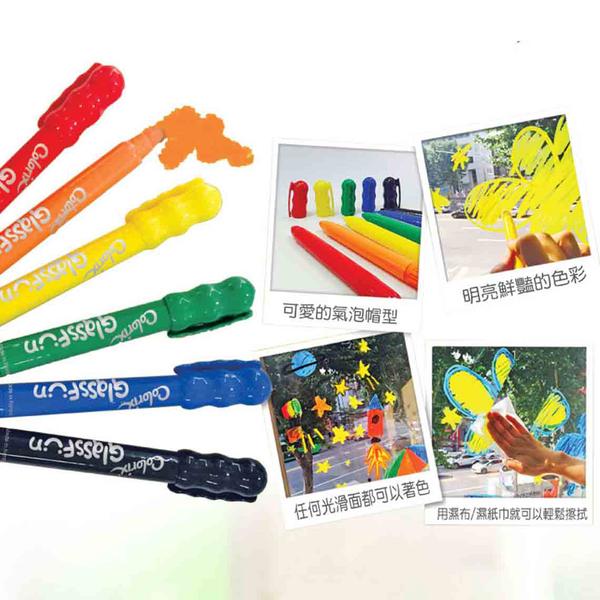 韓國 AMOS 6色玻璃蠟筆