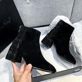 短靴 韓系馬丁靴 靴子 花漾小姐【預購】