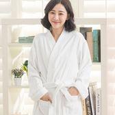 極厚精梳棉日式浴袍(白色)