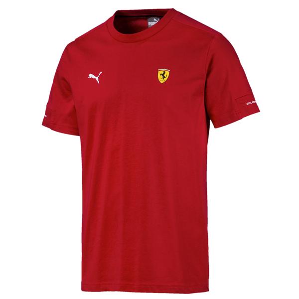 Puma Ferrari 男 紅色 短袖 法拉利 運動上衣 T桖 圓領T 運動 休閒 棉質上衣 59543601