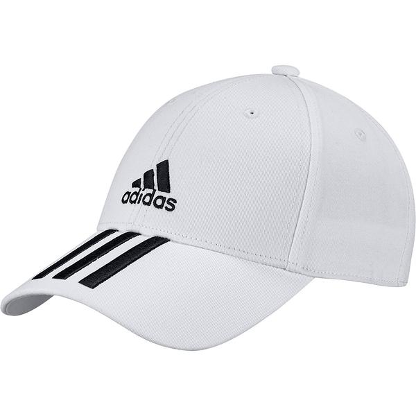 ADIDAS 刺繡 白 三線LOGO 老帽 基本款 (布魯克林) FQ5411
