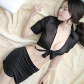 性趣內衣超短裙女性感情趣騷短走光老婆透視激情免脫挑逗透明睡衣 全館85折
