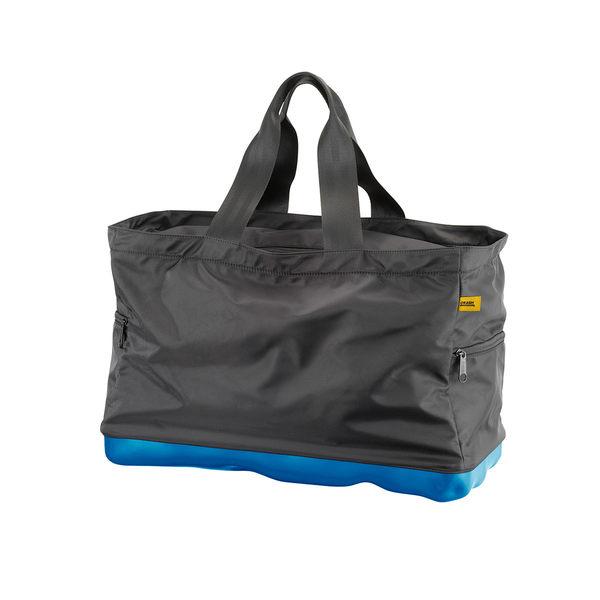 Crash Baggage Bump Bags 前衛霧面 龐克系列 防潑水 旅行提袋 / 運動側背包(黑色提袋 - 輕漾藍硬殼)