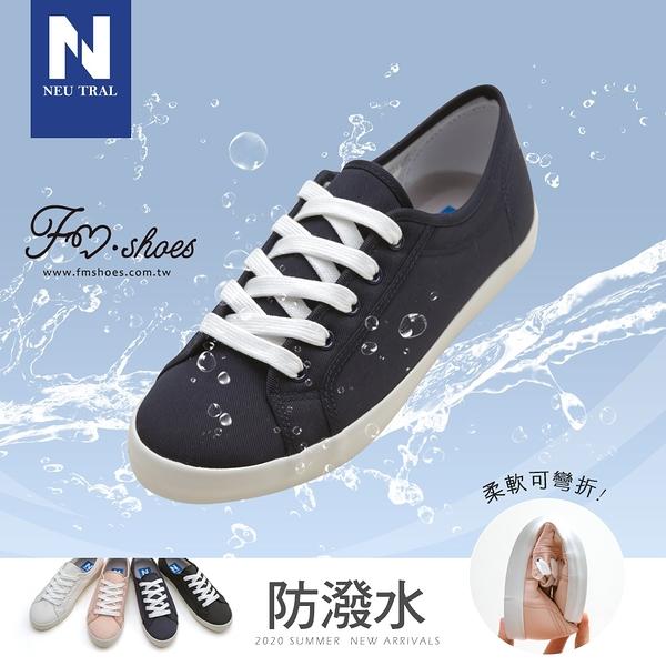 小白鞋.防潑水棉質小白鞋-深藍-FM時尚美鞋-NeuTral.Moment