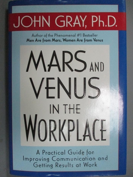 【書寶二手書T5/財經企管_GCI】Mars and Venus in the Workplace: A Practic