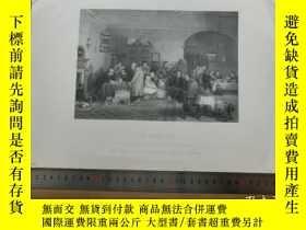 二手書博民逛書店【罕見】19世紀 銅 鋼版畫 單幅 THE RENT DAY(
