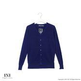 【INI】四季舒適、輕薄溫柔點點針織外套.深藍色