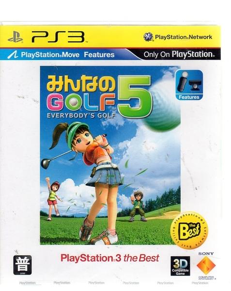 全新現貨中 PS3 MOVE 全民高爾夫 5 Everybody's Golf 5 日文亞版【玩樂小熊】