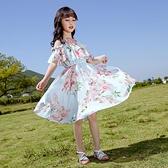網紅女童連衣裙夏裝新款中大童夏季兒童裙子洋氣小女孩公主裙