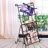 雜誌架 書報架資料架落地歐式鐵藝創意宣傳展示架子立體書架