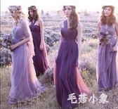 長款宴會伴娘禮服 韓版時尚 BQ85『毛菇小象』