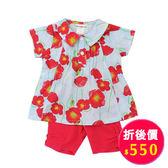 【愛的世界】純棉罌粟花短袖套裝/4~6歲-台灣製- ★春夏洋裝套裝
