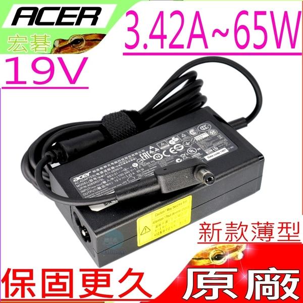 ACER 65W (原廠薄型)充電器 -19V 3.42A ,2000,2010,2020,2030,3000,3010,3030,3040,3100,3500,PA-1500-02