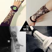 紋身貼防水男女 韓國持久仿真刺青 花臂 網紅性感紋身貼紙 10張  無糖工作室