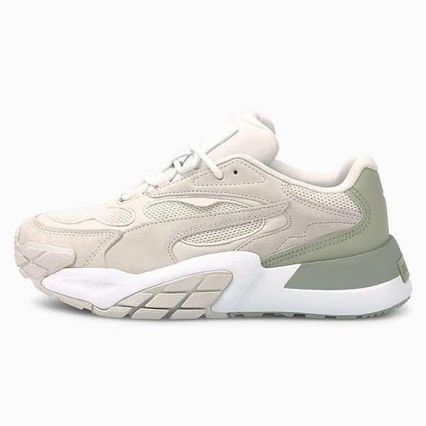 PUMA Hedra Minimal 女鞋 休閒 麂皮 輕量 網布 灰 綠【運動世界】37511903