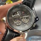 Tommy Hilfiger湯米希爾費格男女通用錶44mm鐵灰色錶面深黑色錶帶