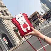 大屏手機包卡通貓咪天小包百搭斜背包可愛單肩迷你包plus包 『米菲良品』