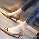 低跟鞋 尖頭法式單鞋女年新款款細跟低跟3cm百搭中空高跟鞋