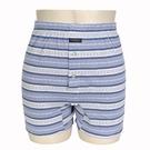 BURBERRY TRUNK條紋兩釦式家居短褲(淺藍)085173-4
