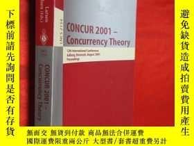 二手書博民逛書店Concur罕見2001 - Concurrency Theor