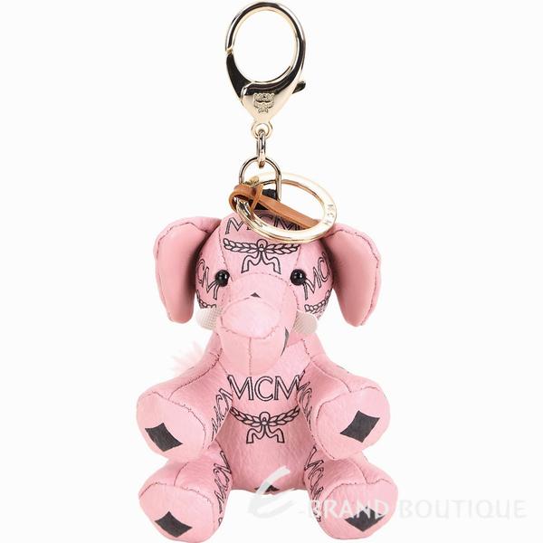 MCM Visetos Zoo Elephant 大象造型吊飾鑰匙圈(粉色) 1840538-05