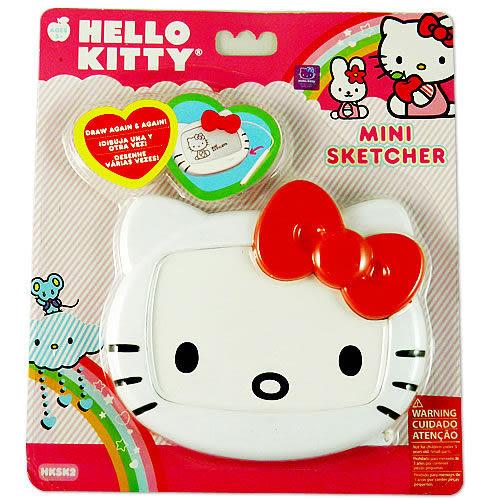 Hello Kitty 大臉造形迷你磁粉畫板 KT01934