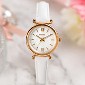FOSSIL CARLIE 簡約漾白真皮腕錶-白珍珠母貝x玫瑰金 ES4582 熱賣中!