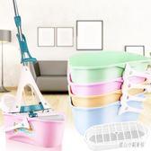 家用長方形拖把桶加厚海綿拖把清洗桶塑料涮拖把墩布水桶拖布池盆 LN4202【甜心小妮童裝】