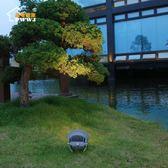 led射燈戶外圓形投射燈室外防水燈照樹燈聚光投光燈 220V 亞斯藍