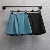 大碼西裝短褲女薄款休閑闊腿褲百搭高腰顯瘦五分褲MR26依佳衣